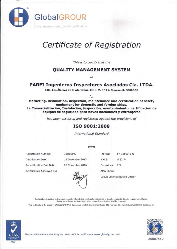 PARFI-2013-certificate